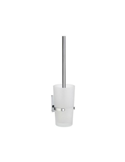 Smedbo Pool WC-Bürstengarnitur mit Mattglas, chrom