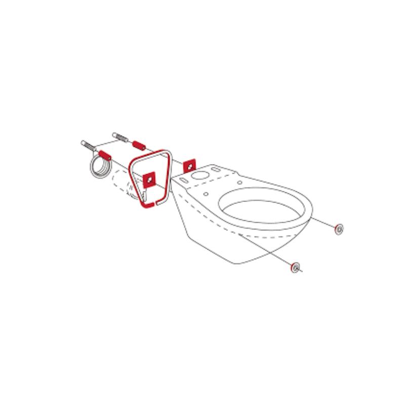 Hafner Schallschutz SET für Wand WC, Wand-Bidet, Stand WC und Urinoir