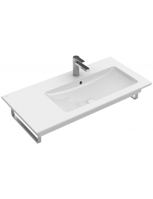 Schrankwaschtisch Rechts 1000 x 500 mm,  mit/ohne Hahnloch, mit/ohne Überlauf, mit/ohne CeramicPlus