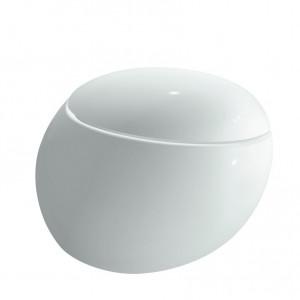 Laufen Il Bagno Alessi One Wand-Tiefspül-WC rimless ohne Spülrand weiss Clean Coat