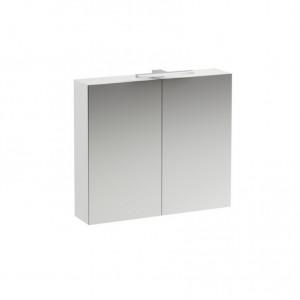 Base Spiegelschrank mit LED-Beleuchtung 2 türig, Breite: 800, weiss