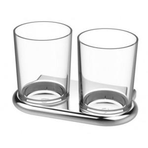 Bodenschatz NIA Doppelglashalter mit Tritanglas BPA frei
