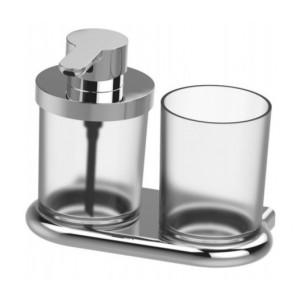 Bodenschatz NIA Set Seifenspender mit Glas matt