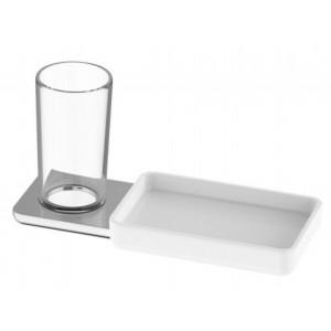 Bodenschatz LIV Glashalter Klarglas mit Ablageschale